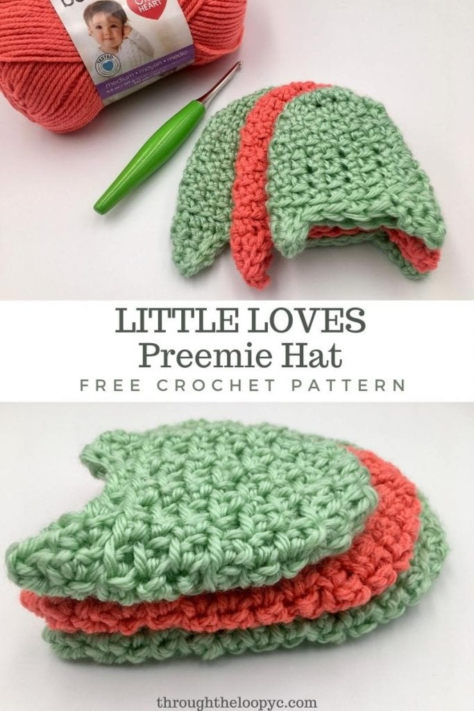 Little Loves Preemie Hat Free Crochet Pattern.