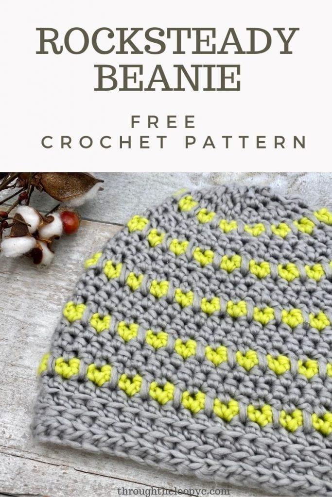 The Rocksteady Beanie Free Crochet Pattern.