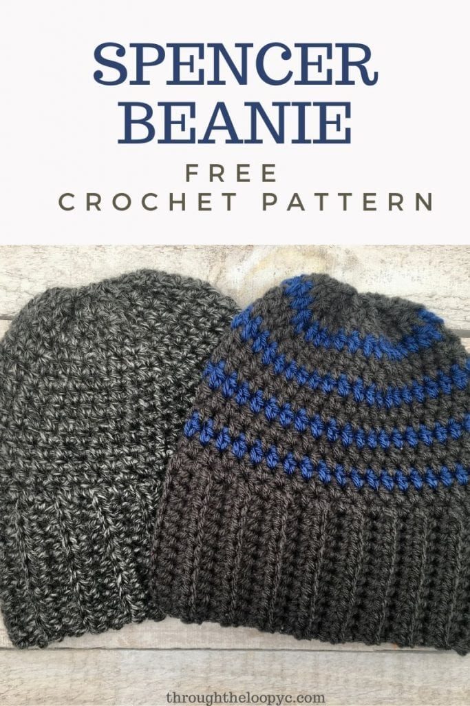 The Spencer Beanie Free Crochet Boys Hat Pattern