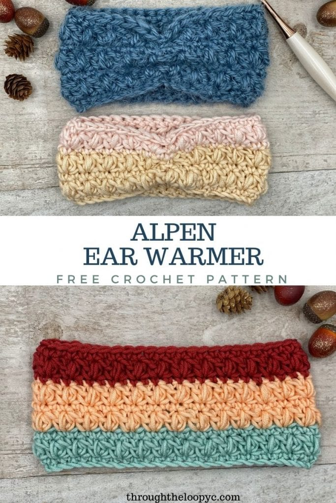 Alpen Ear Warmer Free Crochet Pattern