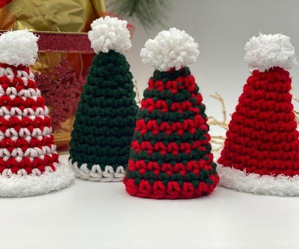 Holiday Wine Bottle Hat Free Crochet Pattern