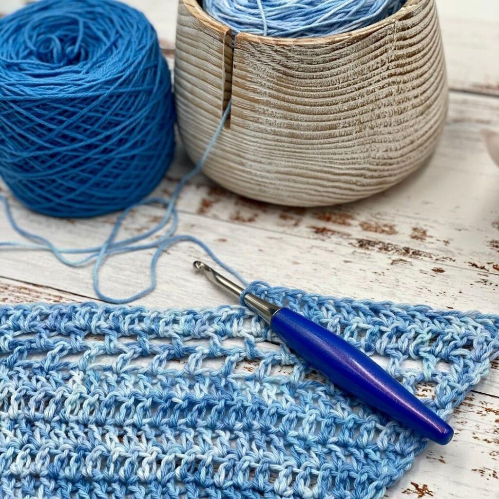 Riverside Shawl Free Crochet pattern