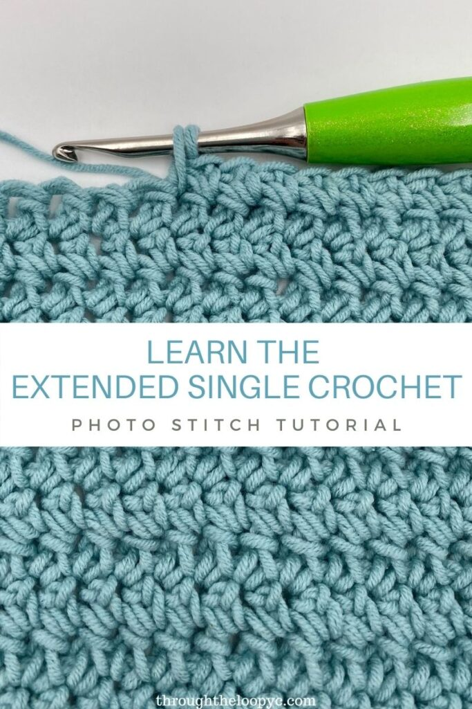 Learn the Extended Single Crochet Stitch