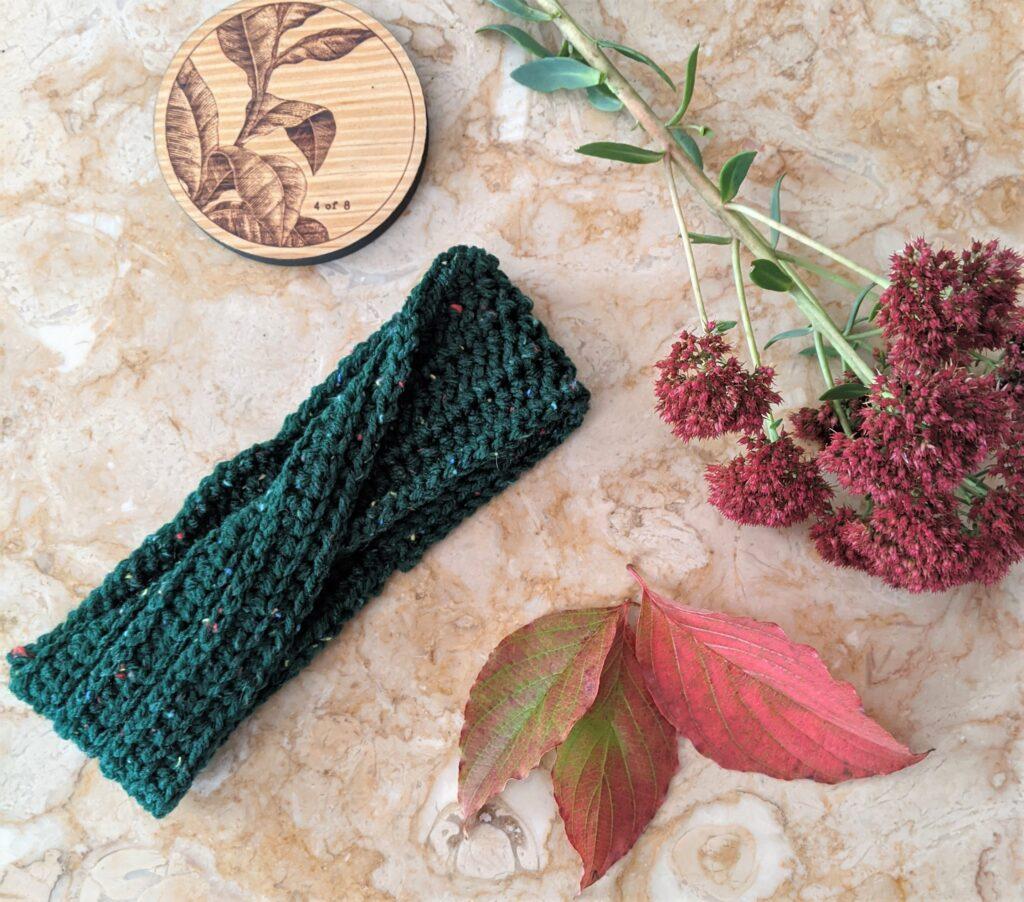 On The Double Headband Free Crochet Pattern